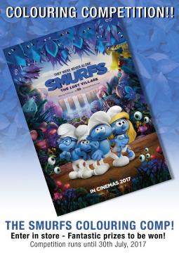 Smurfs Colouring In Comp - July 2017