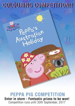 Peppa Aust Holiday Colouring Comp