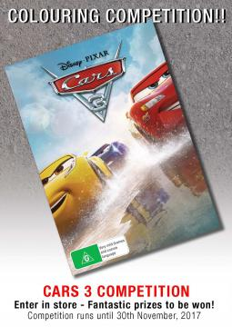 Cars 3 Colour Poster
