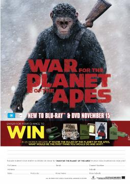 War For The Planet Of The Apes Comp