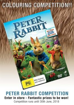 Peter Rabbit Colouring In Comp Poster